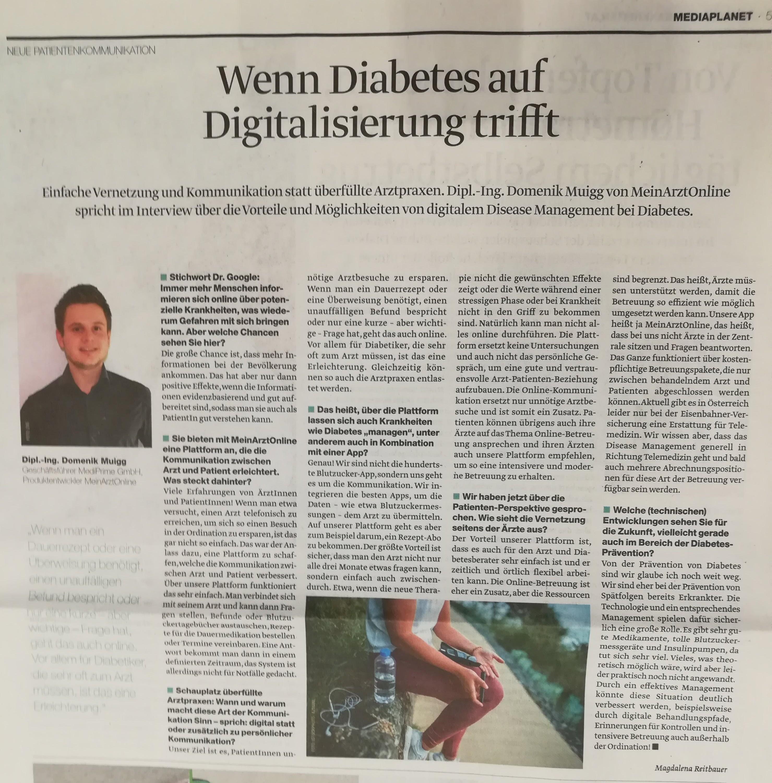 Wenn Diabetes auf Digitalisierung trifft